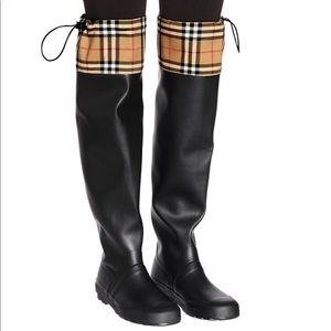 Burberry Freddie Tall Waterproof Rain Boots